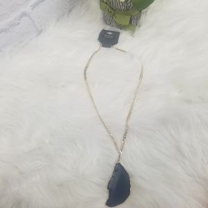 Express| Genuine Agate Necklace NWT